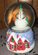 Nightmare Before Christmas Jack Skellington Snowman MUSICAL Water Snowglobe NEW