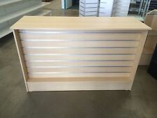 Maple slatwall retail shop counter, brand new & flat packed shop fittings