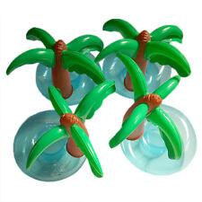 New Coconut Tree Floating Inflatable Drink Coke Can Cup Holder Pool Bath Beach