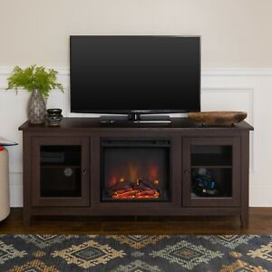 Walker Edison Fireplace TV Stand for TVs up to 64 , Espresso