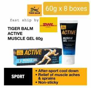 8 boxes x Tiger Balm Active Muscle Gel 60g  fast ship by DHL Express