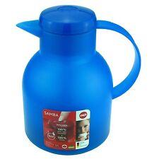 Emsa SAMBA Isolierkanne, Thermoskanne, Kaffeekanne Quick Press, Azurblau, 1,0L