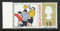 1966 World Cup 1/3d Marginal Error - yellow-olive Colour Shift - SG695