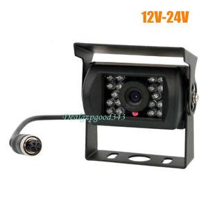 4 Pin CCD Bus Trailer 18 IR Night Vision Car Rear View Reverse Camera Bus Truck
