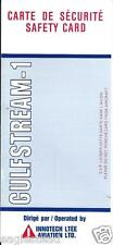 Safety Card - Innotech Aviation - Grumman Gulfstream-1  (Canada)  (S3569)