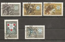 Russia SC # 3366-3370 10th Winter Olympics, Grenoble France. Mint Hinged