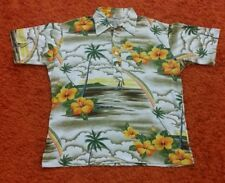 VINTAGE HAWAII 80s T SHIRT FULL PRINT RAINBOW NUI NATU USA