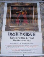 IRON MAIDEN Edward The Great promo poster 30 x 20 2002 original