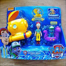 Nickelodeon PAW PATROL DIVING BELL CAPTAIN TURBOT BATH PLAYSET Vehicle Figure 3+