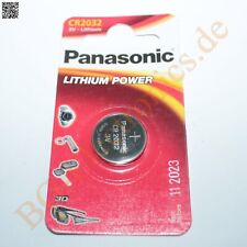 2 x CR2032 Lithium Power Batterie 3.2mm 3V 20mm  Panasonic Knopfzelle 2pcs