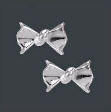 Edelmetall-Ohrschmuck ohne Steine aus echtem Bewusstseins Butterfly-Verschluss für Damen