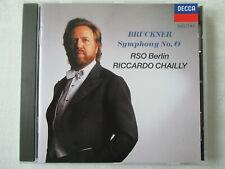 Anton Bruckner - Symphony No.0 - RSO Berlin - Riccardo Chailly - CD