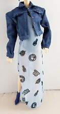 New Barbie Doll Styled by Marni Senofonte Fashion Outfit Jean Jacket Ankle Boots