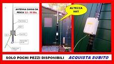 hf ANTENNA RAINBOW  CANNA DA PESCA 3,5 - 50 MHZ FISHING ROD 500W 6 - 80 MT