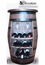 Cantinetta mezza Botte botti legno massello portabottiglie per bottiglie