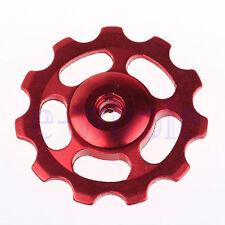 2pcs Aluminium Jockey Wheel Rear Derailleur Pulley SHIMANO SRAM 11T Red COOL