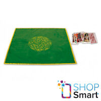 TAROT CLOTH CELTIC LABYRINTH VELVET EMBROIDED GREEN LO SCARABEO 80X80 CM NEW