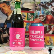 Last Place Fantasy Football Koozie - Fantasy Football Punishment Koozie Pink