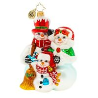 NEW Christopher Radko A FROZEN FAMILY Christmas Ornament 1020143
