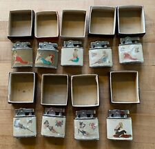 New ListingVintage Erotica, Lot of 9 New Omega & Robin Lighters! Semi-nude Super Lighters!