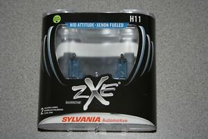 Sylvania Silverstar ZXE H11 Pair Set Headlight Bulbs Xenon Fueled NEW