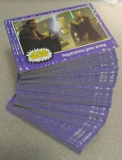 2015 JOURNEY TO STAR WARS THE FORCE AWAKENS PURPLE BASE SET - ALL 110 CARDS