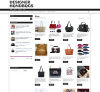 FULLY  STOCKED DESIGNER HANDBAG WEBSITE - new domain - ONE YEARS HOSTING
