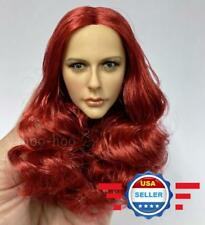 RED Curly Hair Wig for CUSTOM 1/6 scale Female Head Sculpt Accessory