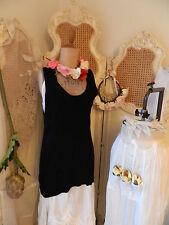 Hebbeding ~Unique Designer ~Quirky Lagenlook Black Knit Dress/Vest/Top~Must See!
