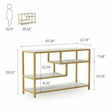Living Room Modern Style TV Console Table Gold Metal Frame Entryway Sofa Table