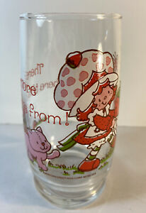 Vintage Strawberry Shortcake Drinking Glass By American Greetings Corp.