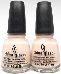 china glaze Nail Polish Hopeful 1066 + Pearl Of Wisdom 1067 Nude French Sheer