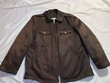 MENS VINTAGE ARMY BLAUER BROWN THINSULATE 3M LINED JACKET COAT 42R 42 REGULAR