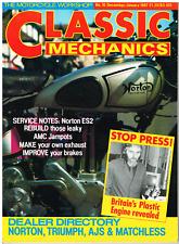 Classic Mechanics 1986 Dec  Norton ES2 service, AMC rebuild, JAP speedway engine