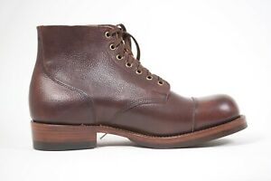 Julian Boots, Tommy Boot, Antique Marine Dark Brown, Handmade, Limited Edition