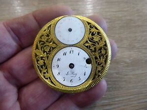 RARE LE-ROY ANTIQUE FUSEE VERGE POCKET WATCH DIAL