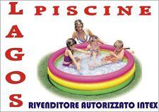 Piscina Gonfiabile Con 3 anelli INTEX cm 147 x 33 cod. 57422