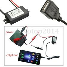 For Car GPS Smartphone Converter Regulator Step Down DC 12V 24V to USB 5V 3A 15W
