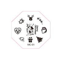 1x Stamping Schablone, neu, Nail Art MC-01, weihnachten, schneeflocke ***NEU***
