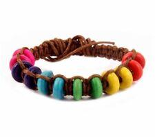 Bracelets fantaisie marrons en perle