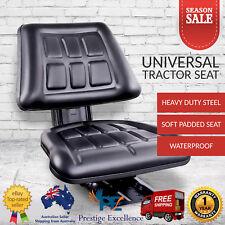 Universal Tractor Seat Excavator Truck Adjustable Backrest Suspension PU Leather