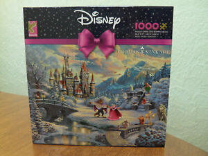 Thomas Kinkade Beauty and the Beast Winter Enchantment 1000 Jigsaw Puzzle DIsney