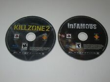 Killzone 2, Infamous - Playstation 3 PS3  Lot Of 2  - Disc Only