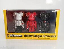 Yellow magic orchestra bearbrick be@rbrick 3 pk 100% medicom YMO new in  box 07