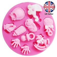 """Silicone """"Baby Shower"""" Hands and feet Mould Cake Decoration Newborn, Christening"""