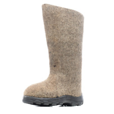 Women's Gray Valenki Boots Felt Outdoor Snow Boots from Russia Size 6 ВАЛЕНКИ
