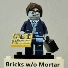 New Genuine LEGO Zombie Businessman Minifig with Briefcase Series 14 71010
