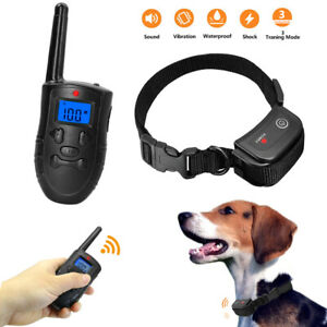 Dog Shock Collar with Remote 300M Rechargeable Dog Training Collar Waterproof