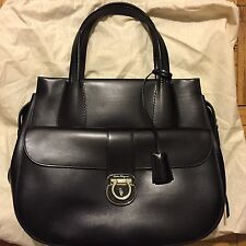 Ferragamo Women's Black Leather Handbag