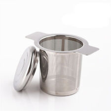 1 Pc Stainless Steel Tea Infuser Filter Strainer Double Handle Basket + Lid